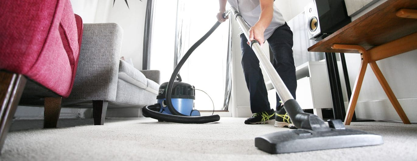 Cleaner Vacuums a House in Norwich using a Henry Hoover
