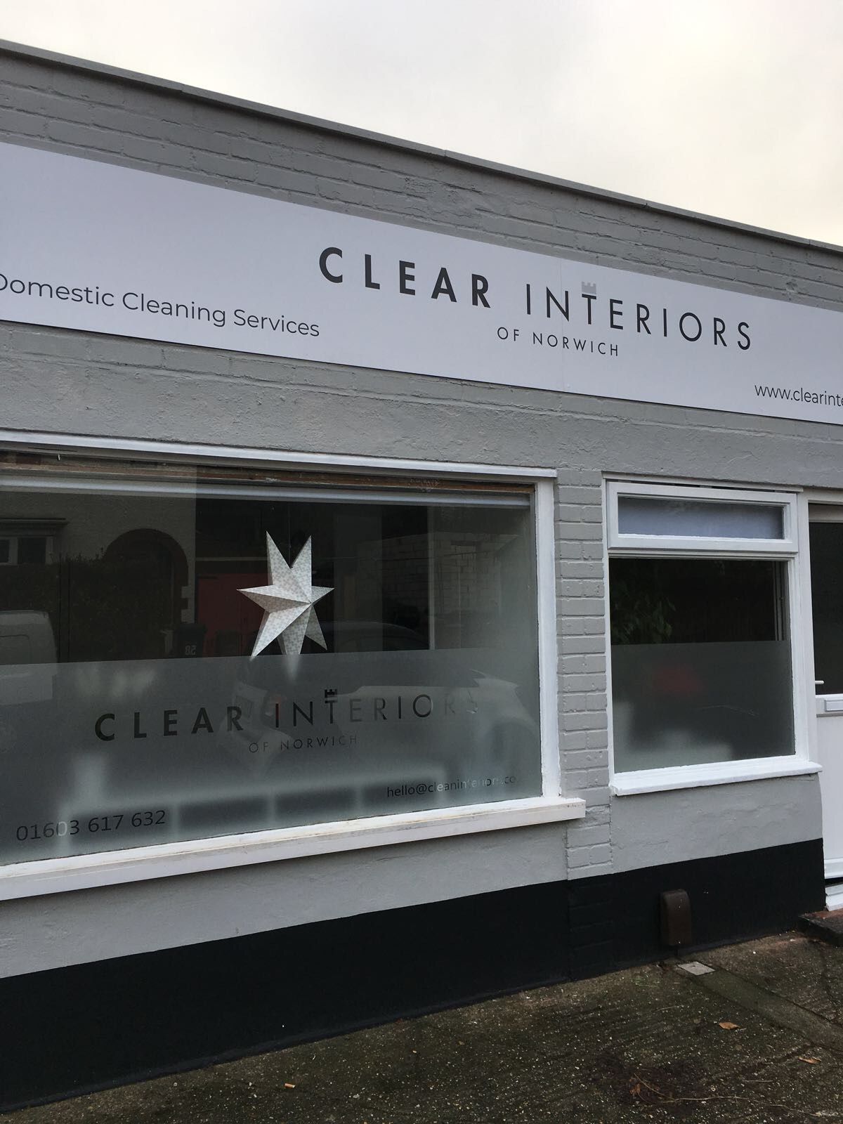 External of Clear Interiors of Norwich Premises